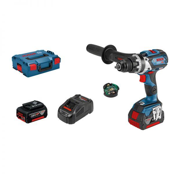 Bosch GSR 18V-85 C Professional 2 x 5,0 Ah + GCY 30-4 + L-BOXX 06019G0101 - Akku Bohrschrauber 18 V