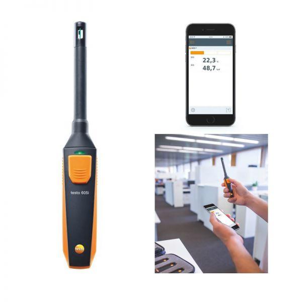 TESTO 605 i - Thermo-Hygrometer mit Smartphone-Bedienung