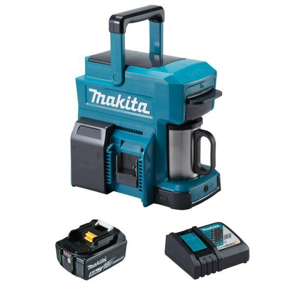 Makita DCM501 1 x 5,0 Ah + Lader - Akku Kaffeemaschine 18 V