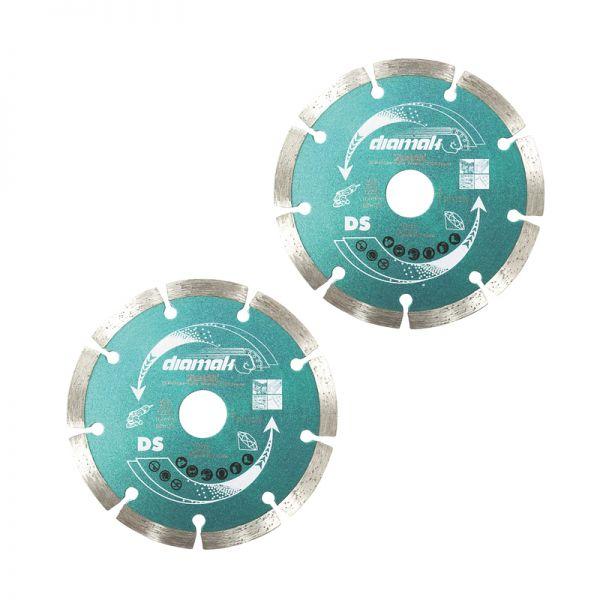 Makita Diamant Trennscheiben Set 2 x Diamak DS 125 mm x 22 D-61139