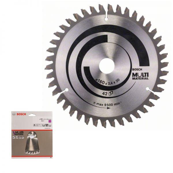 Bosch Kreissägeblatt 160 x 20 / 16 mm WZ 42 - Multi Material