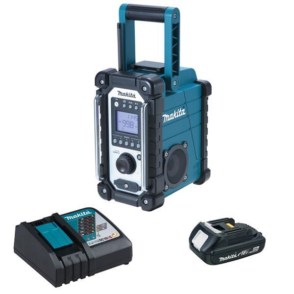Makita DMR107 - Akku Baustellenradio + Akku 1.5 Ah + Ladegerät
