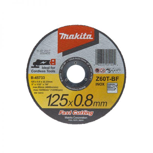 Makita 125 x 0,8 mm Inox / Metall B-45733 - Trennscheibe 10 Stck.