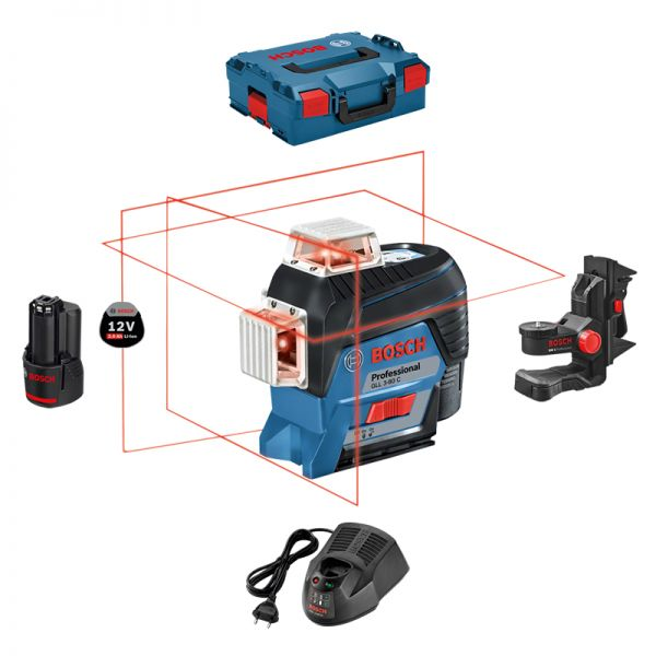 Bosch GLL 3-80 C Set inkl. 2,0 Ah + GAL1230CV + BM1 + L-Boxx