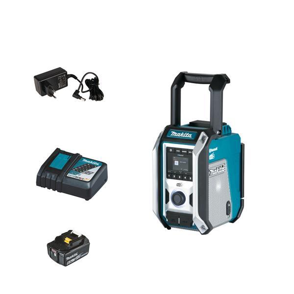 Makita DMR115 1 x 6.0 Ah + Schnellladegerät - Akku Baustellenradio 12 V - 18 V DAB+ Bluetooth