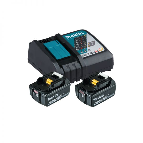 Makita Power-Source Kit 18V 6,0 Ah 199480-6 ( 2 x 6,0 Ah BL1860B + DC18RC )