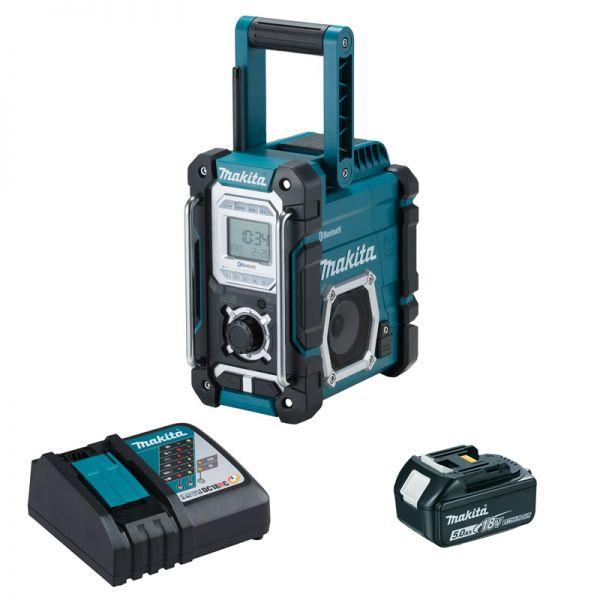 Makita DMR108 1 x 5,0Ah + Ladegerät - Akku Baustellenradio 18 V