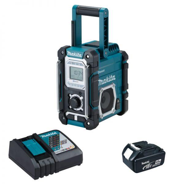 Makita DMR108 1 x 4,0Ah + Ladegerät - Akku Baustellenradio 18 V