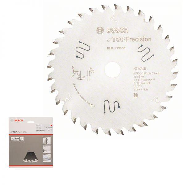 BOSCH Kreissägeblatt 165 x 20 mm WZ 32 - Top Precision Wood