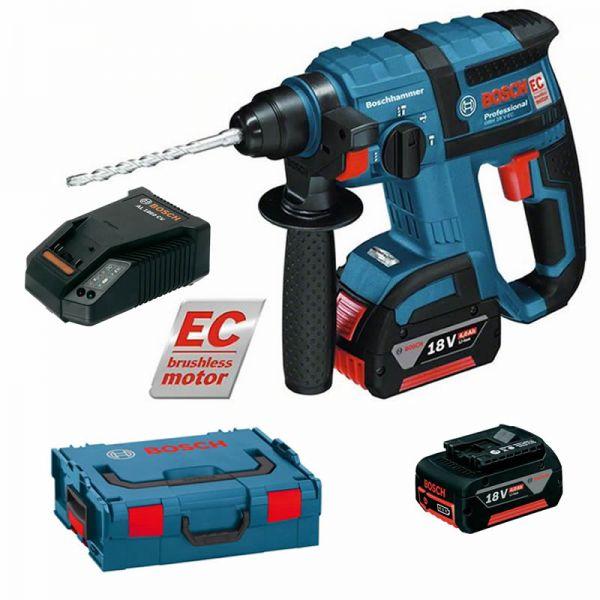 Bosch GBH 18 V-EC 2 x 4,0 Ah + L-Boxx - Akku Bohrhammer