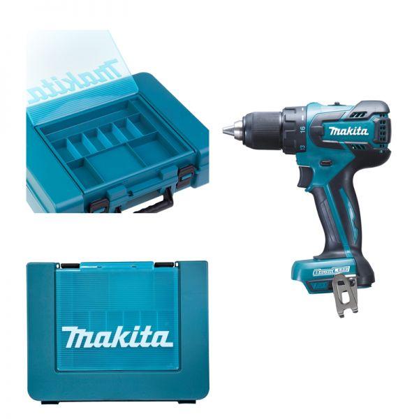 Makita DDF459ZK im Koffer mit Kleinteilefach - Akku Bohrschrauber 18 V