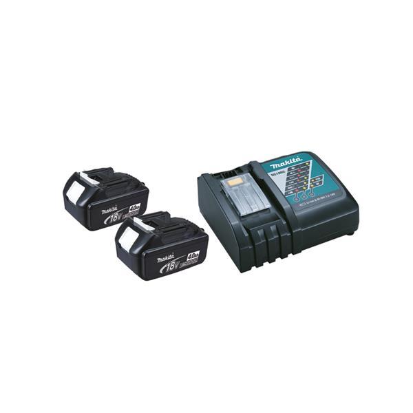 Makita Power-Source Kit II 4,0 Ah 2 x BL1840 + DC18RC Schnellladegerät