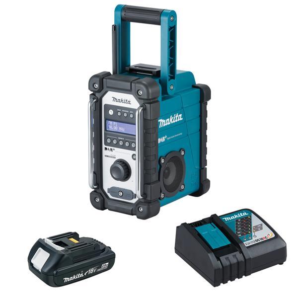 Makita DMR110 1 x 2,0 Ah - Akku Baustellenradio + Ladegerät