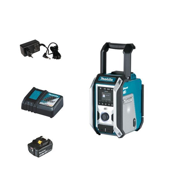 Makita DMR115 1 x 4.0 Ah + Schnellladegerät - Akku Baustellenradio 12 V - 18 V DAB+ Bluetooth