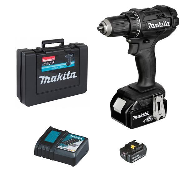 Makita DDF482RTEB 2 x 5,0Ah + Schnellladegerät - Akku Bohrschrauber 18 V