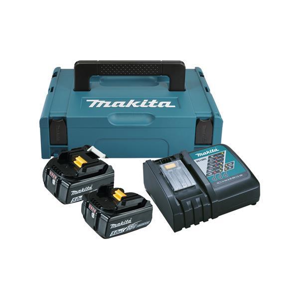 Makita Power-Source Kit 18V 5,0 Ah 197624-2 ( 2 x 5,0 Ah + DC18RC Schnellladegerät )