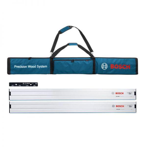 Bosch Führungsschiene Set 2 x FSN 1600 + Verbinder FSN VEL + Tasche FSN BAG