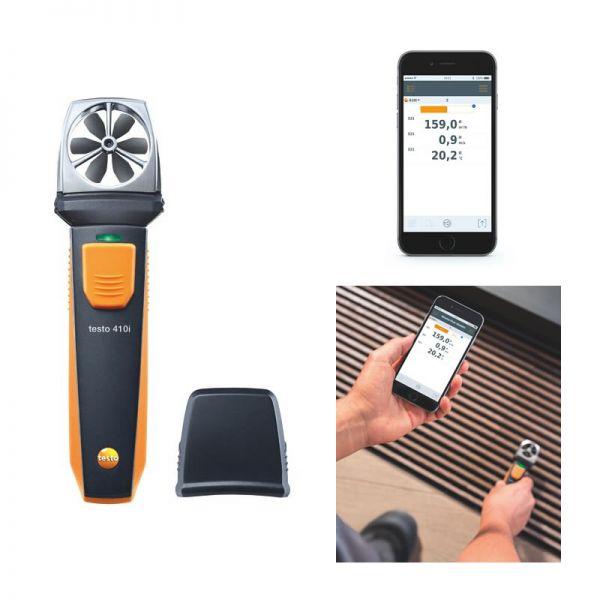 TESTO 410 i - Flügelrad-Anemometer mit Smartphone-Bedienung
