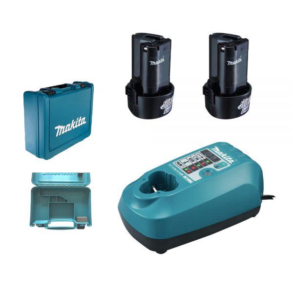 Makita Power Source Kit 10,8 V ( DC10WA + 2 x BL1013 + Koffer) DF330 / DF030 / TD090