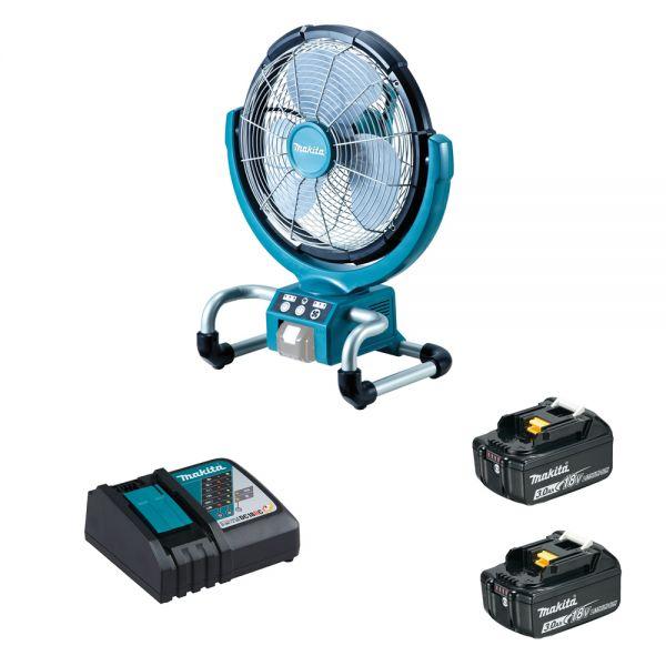 Makita DCF300 RF2 2x 3,0 Ah + Ladegerät - Akku Lüfter - Ventilator 18 V