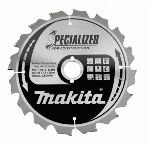Makita HM Sägeblatt B-13699 235 mm x 30 mm 16 Z