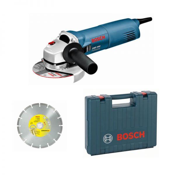 Bosch GWS 1400 inkl. Diamanttrennscheibe im Koffer - Winkelschleifer