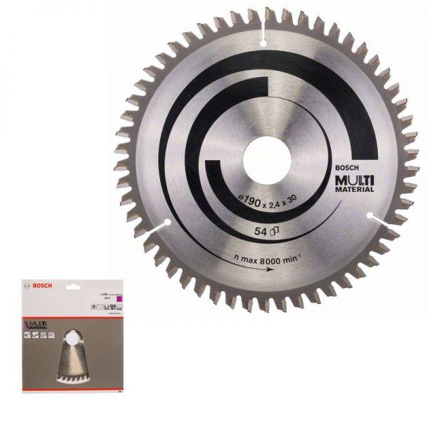 Bosch Kreissägeblatt 190 x 30 mm WZ 54 - Multi Material