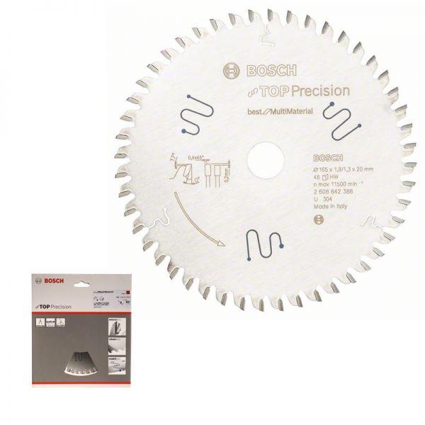 BOSCH Kreissägeblatt 165 x 20 mm WZ 48 - Top Precision Multi Material