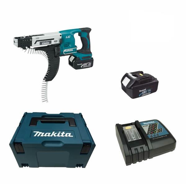 Makita DFR550RFJ 2 x 3,0 Ah - Akku Magazinschrauber 18 V