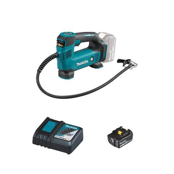 Makita DMP180RF 1 x 3,0 Ah + Ladegerät - Akku Kompressor 18 V 8,3 bar 10 l/min