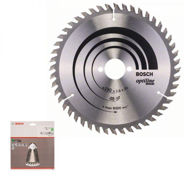 Bosch Kreissägeblatt 190 x 30 mm WZ 48 - Optiline Wood