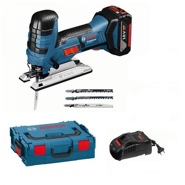 Bosch GST 18 V-LI S Professional 1 x 5,0 Ah in L-Boxx - Akku Stichsäge 18 V