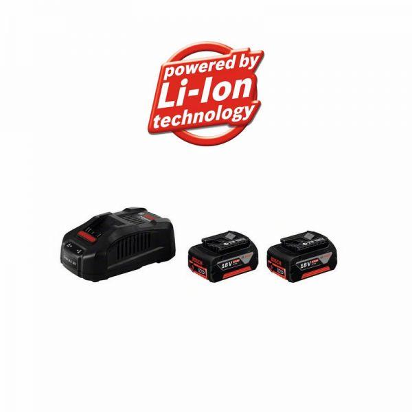Bosch 2 x GBA 18 V 6,0 Ah M-C + GAL 1880 CV - Starter Set 18V