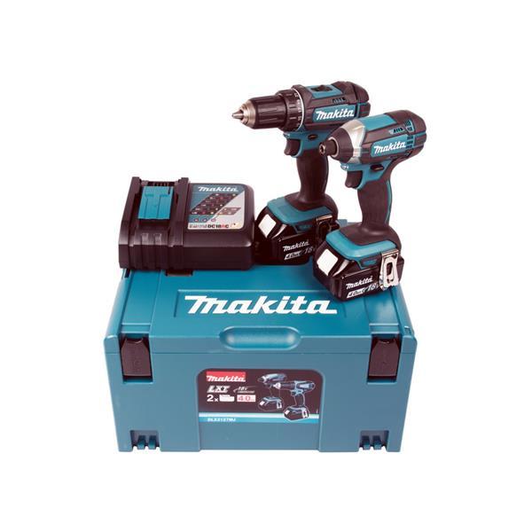 Makita Kit DLX2127MJ ( DDF482 + DTD152 ) 2 x 4,0 Ah Akkuschrauber / Schlagschrauber 18 V