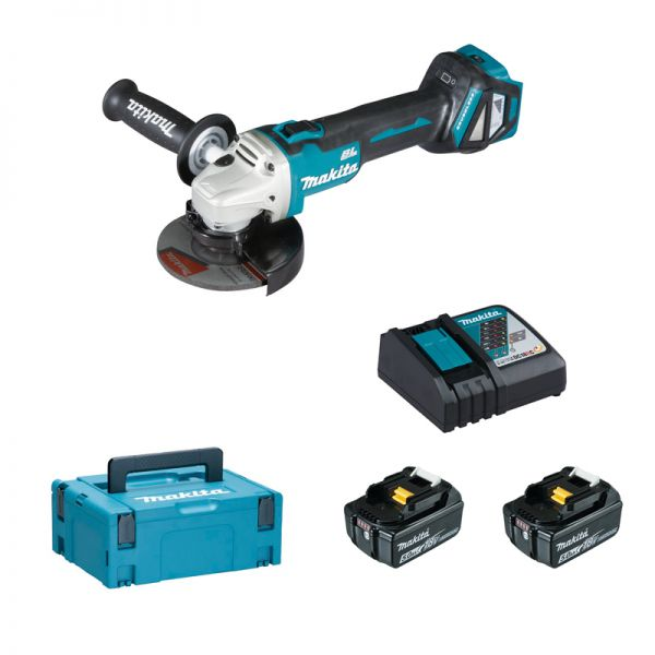 makita dga511rtj 2 x 5 0 ah akku winkelschleifer 18 v 125 mm tooltown werkzeuge ihr online. Black Bedroom Furniture Sets. Home Design Ideas