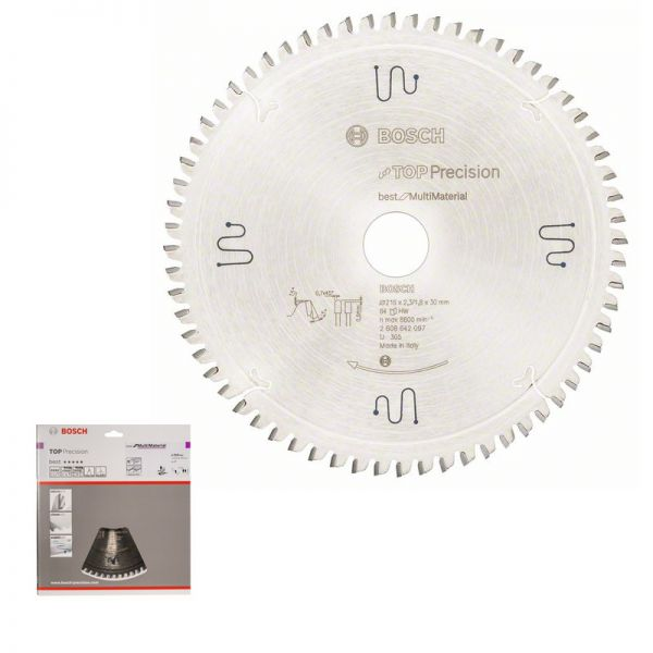 BOSCH Kreissägeblatt 216 x 30 mm WZ 64 - Top Precision Multi Material