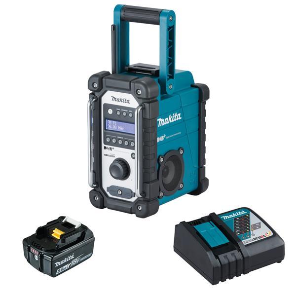 Makita DMR110 1 x 5,0 Ah - Akku Baustellenradio + Ladegerät