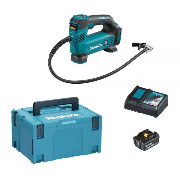 Makita DMP180RT1J 1 x 5,0 Ah + Ladegerät - Akku Kompressor 18 V 8,3 bar 10 l/min