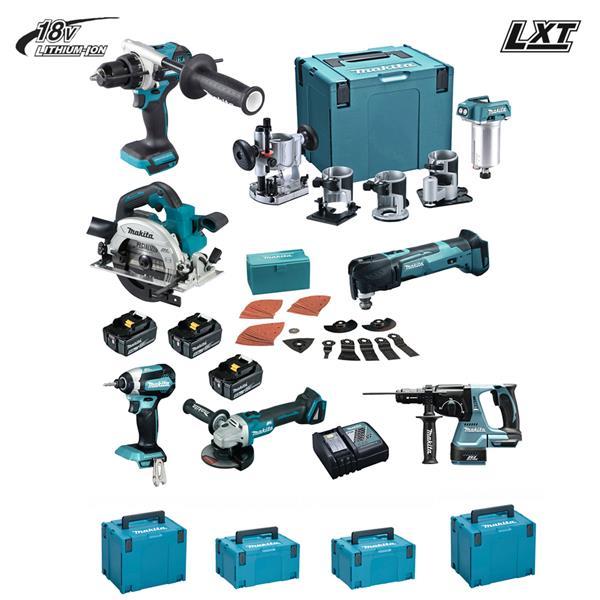 Makita Kit V 18 V ( DGA506 DHR243 DHS680 DHP481 DTD153 DTM51 DRT50 )