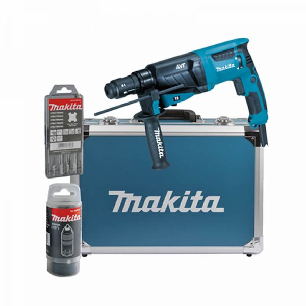 Makita HR2631FT13 für SDS-PLUS 26 mm im Alukoffer - Kombihammer