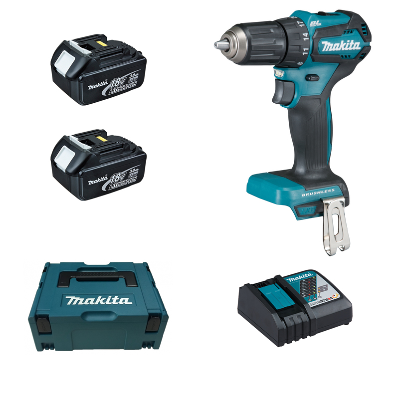 makita ddf483rfj 2 x 3 0 ah akku bohrschrauber 18 v tooltown werkzeuge ihr online. Black Bedroom Furniture Sets. Home Design Ideas