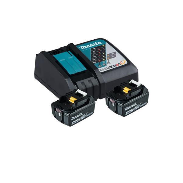 Makita Power-Source Kit 18V 5,0 Ah 197570-9 ( 2 x 5,0 Ah + DC18RC Schnellladegerät )