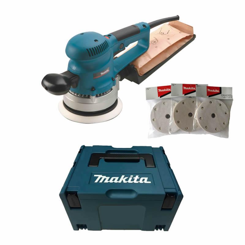 makita bo6030jx im makpac inkl schleifpapier set exzenterschleifer 150mm tooltown werkzeuge. Black Bedroom Furniture Sets. Home Design Ideas