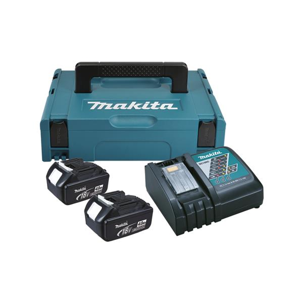 Makita Power-Source Kit 4,0 Ah 2 x BL1840 + DC18RC Schnellladegerät 196866-5