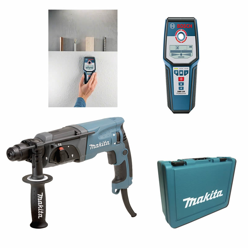 makita hr2470ft bosch gms 120 bohrhammer ortungsger t ebay. Black Bedroom Furniture Sets. Home Design Ideas